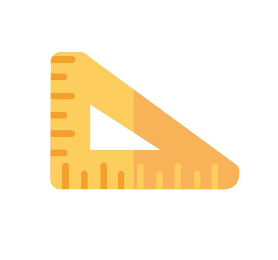 triangle ruler flat design
