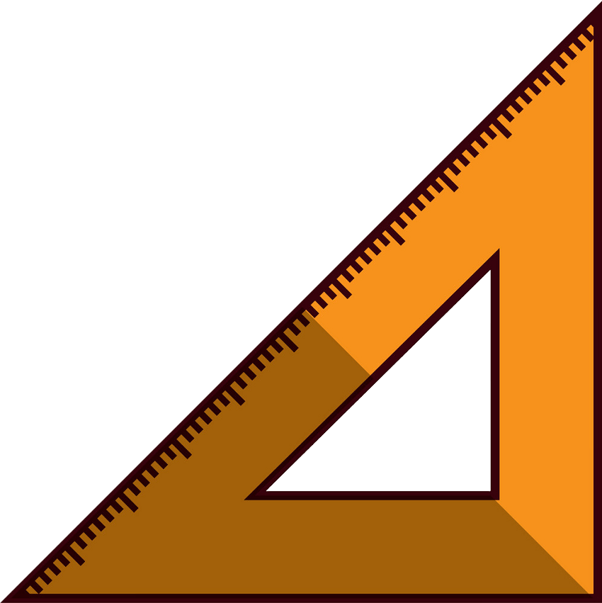 triangle ruler isolated png transparent