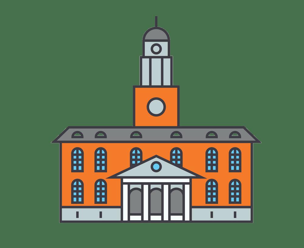 university building icon png transparent
