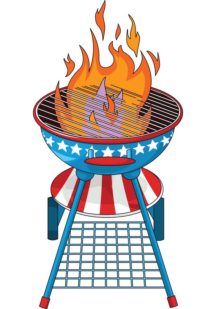us flag bbq grill