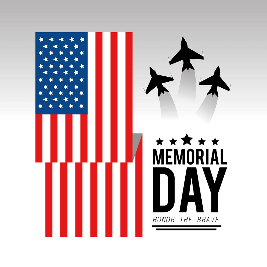 usa flag with airplanes to memorial day png