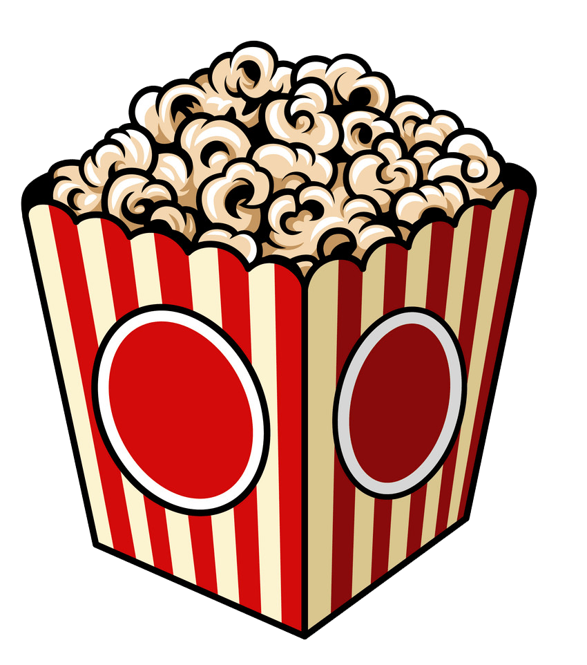 vintage popcorn bag png transparent