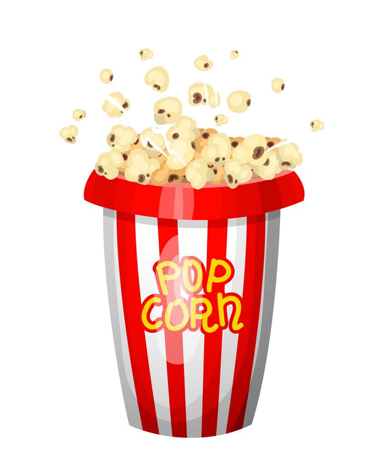 vintage popcorn bag png