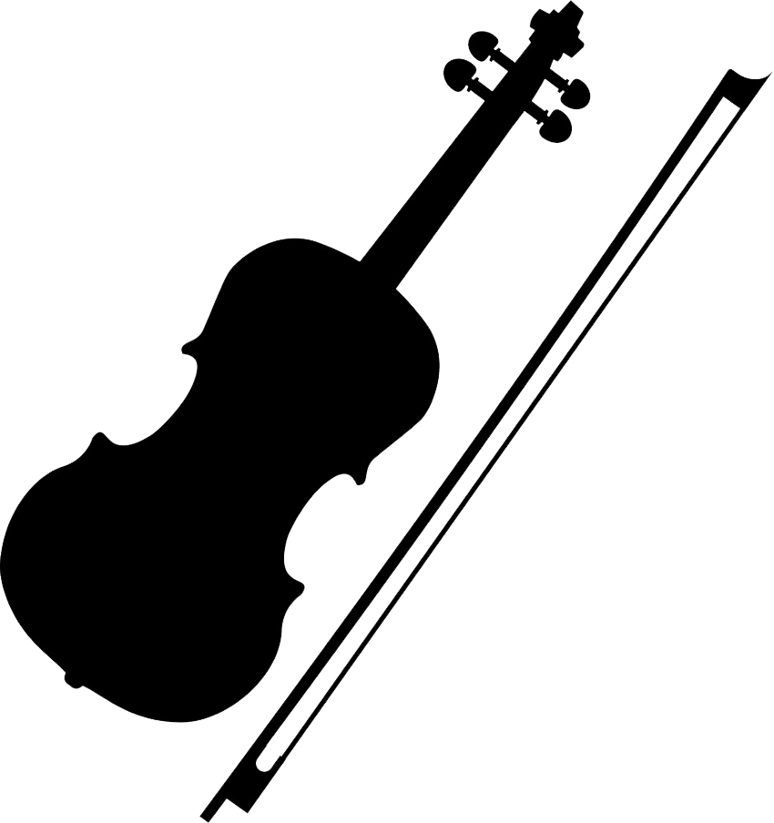 violin and bow icon png transparent