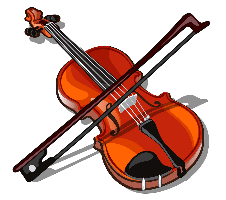 violin and bow isolated png transparent
