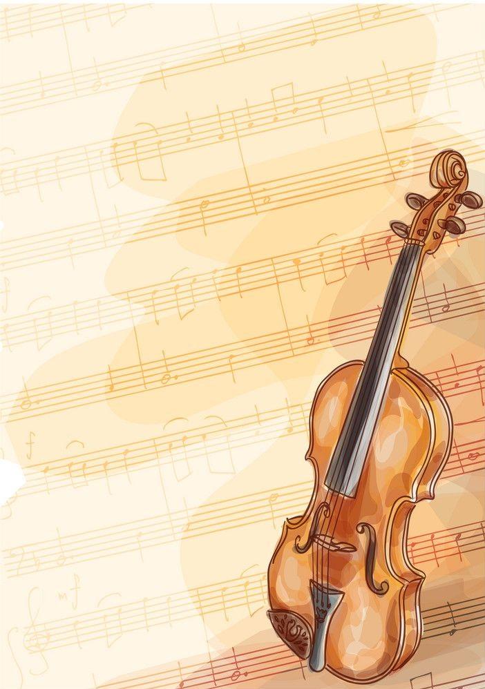 violin on music background