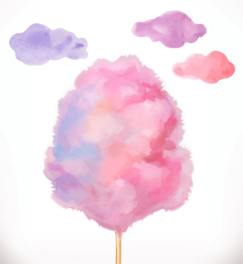 watercolor cotton candy png