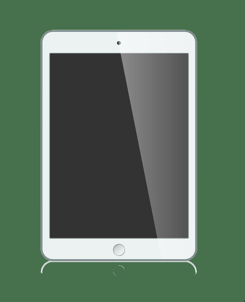 white ipad mini png transparent