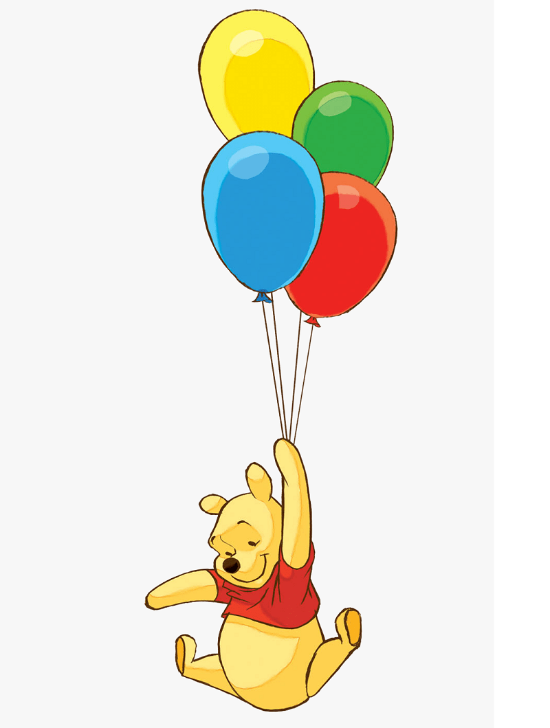 winnie the pooh and balloons png