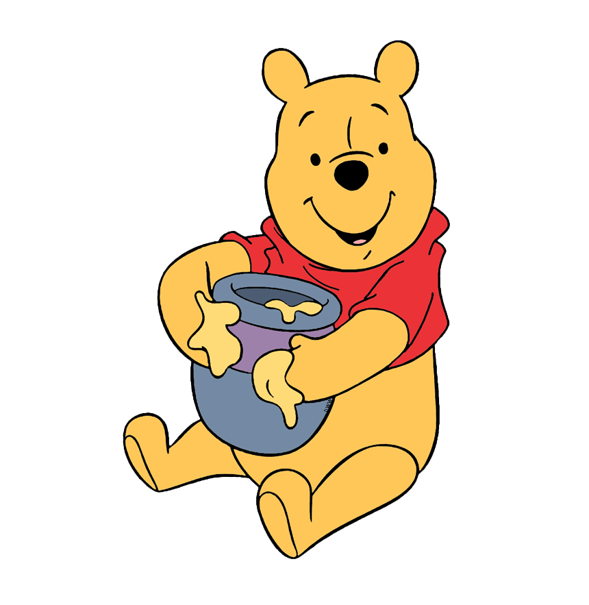 winnie the pooh with honey transparent
