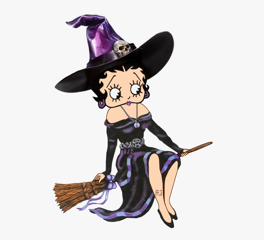 witch betty boop on broom png