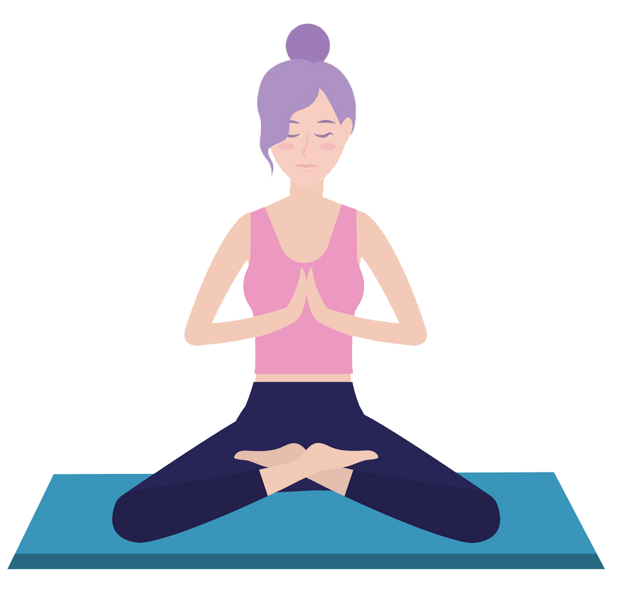 woman and yoga png transparent