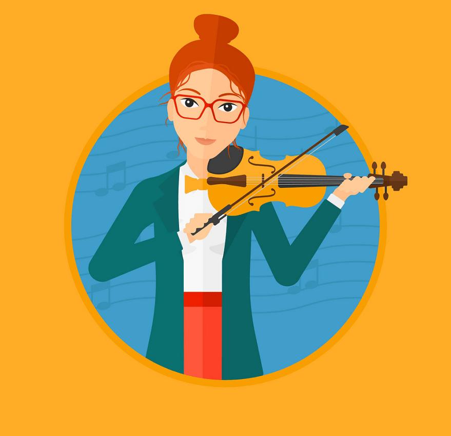 woman playing violin png