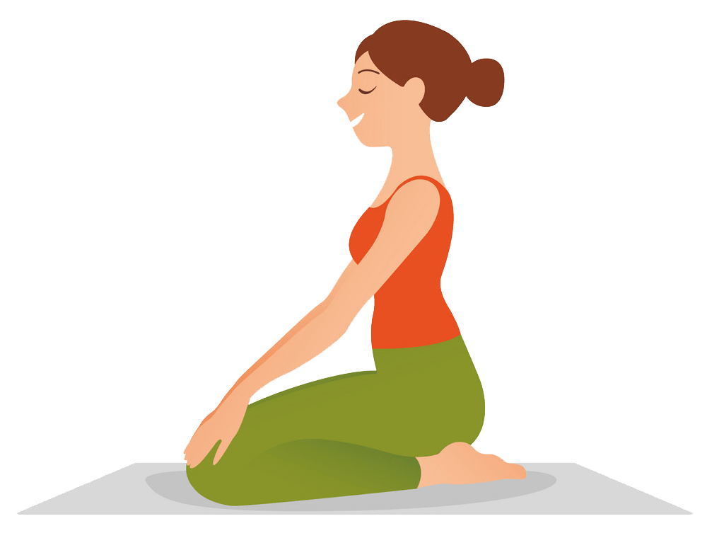 woman practicing yoga png transparent