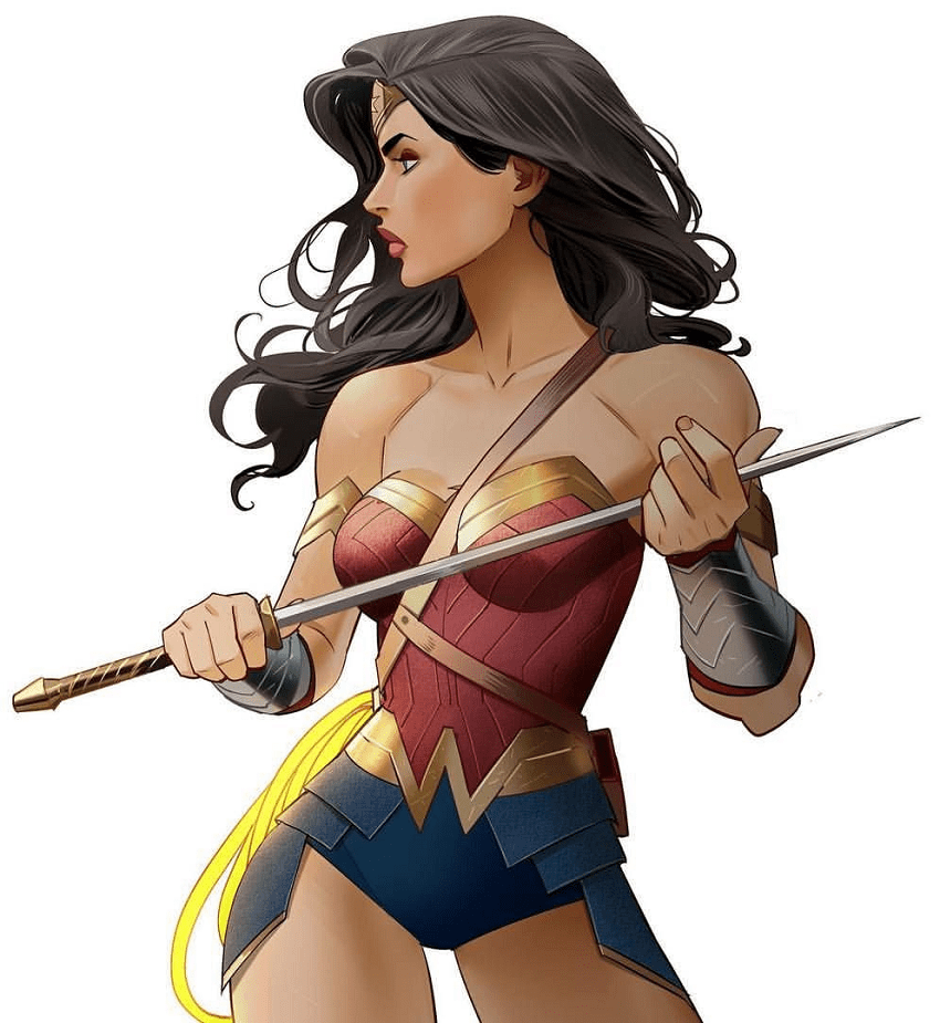 wonder woman holding sword png