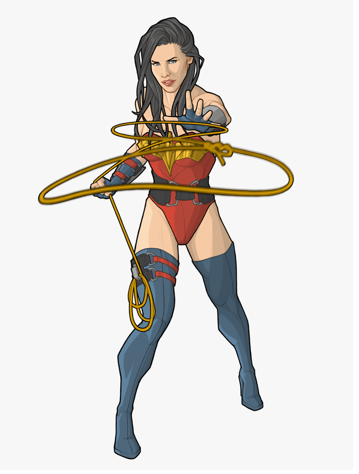 wonder woman using lasso of truth png