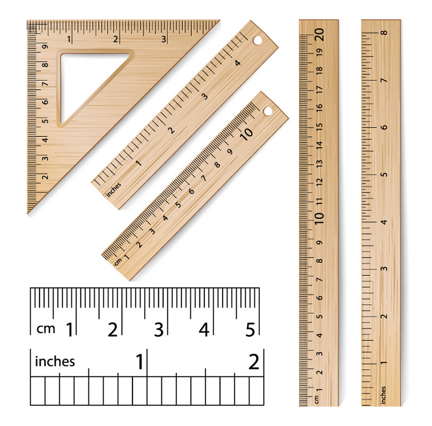 wooden rulers set png