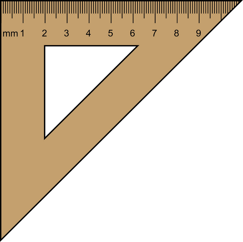 wooden square triangle ruler png transparent