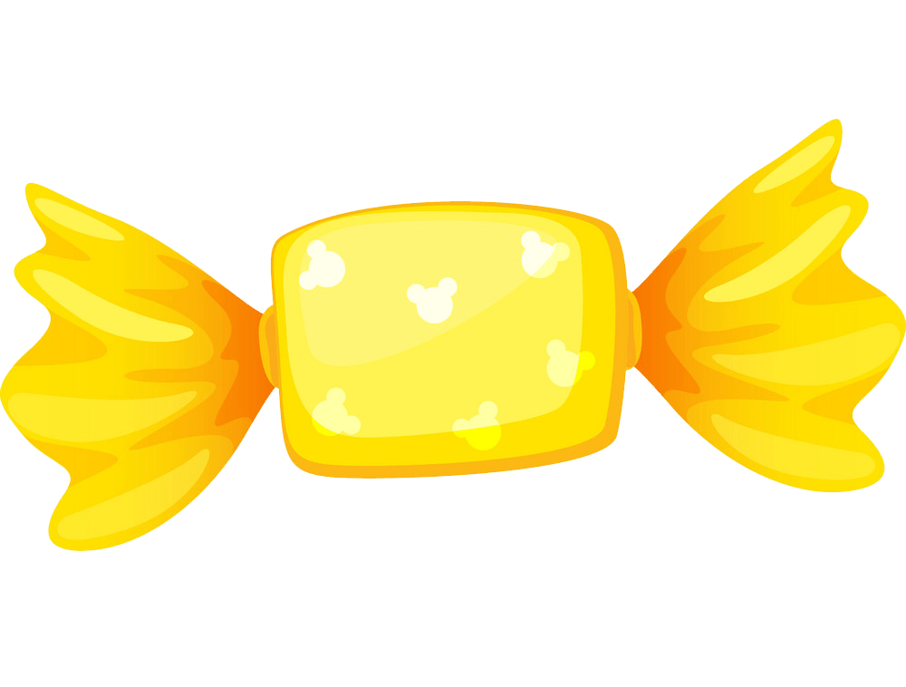 yellow candy transparent