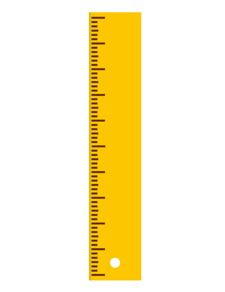 yellow ruler without numbers png transparent