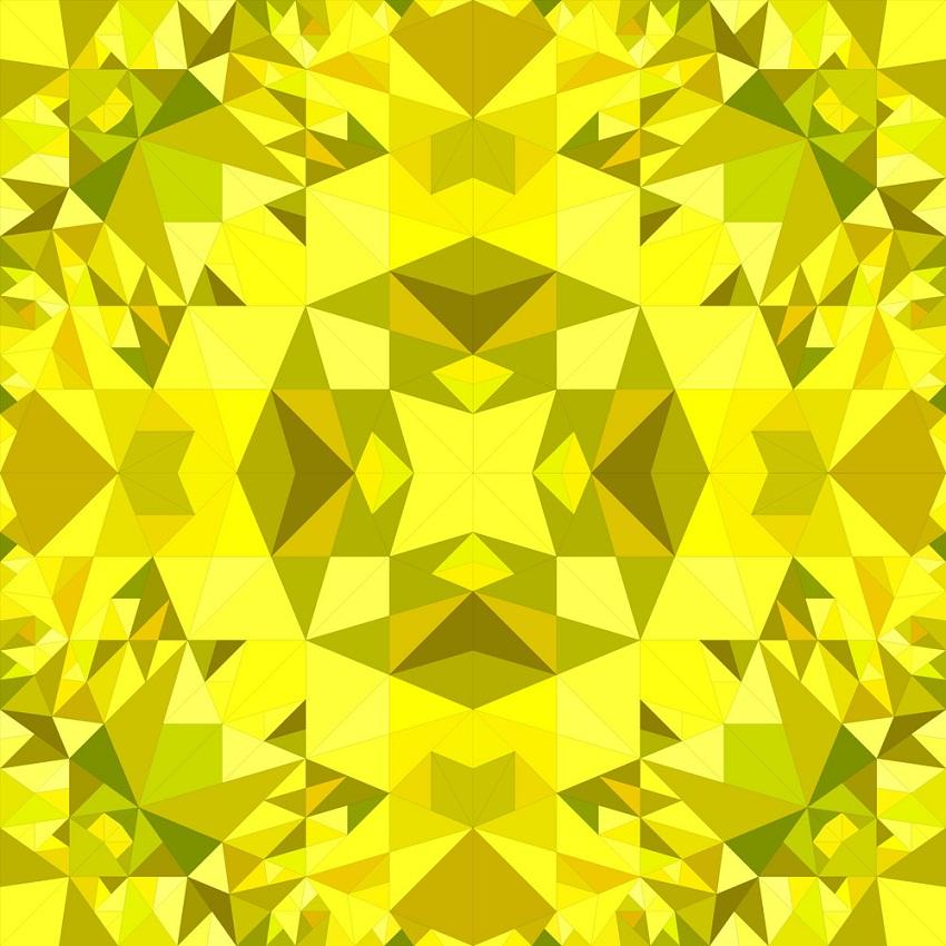 yellow seamless kaleidoscope pattern