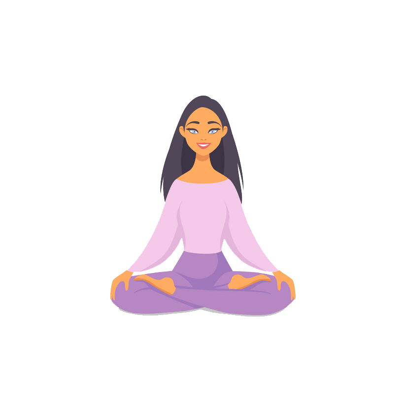 yoga girl png transparent