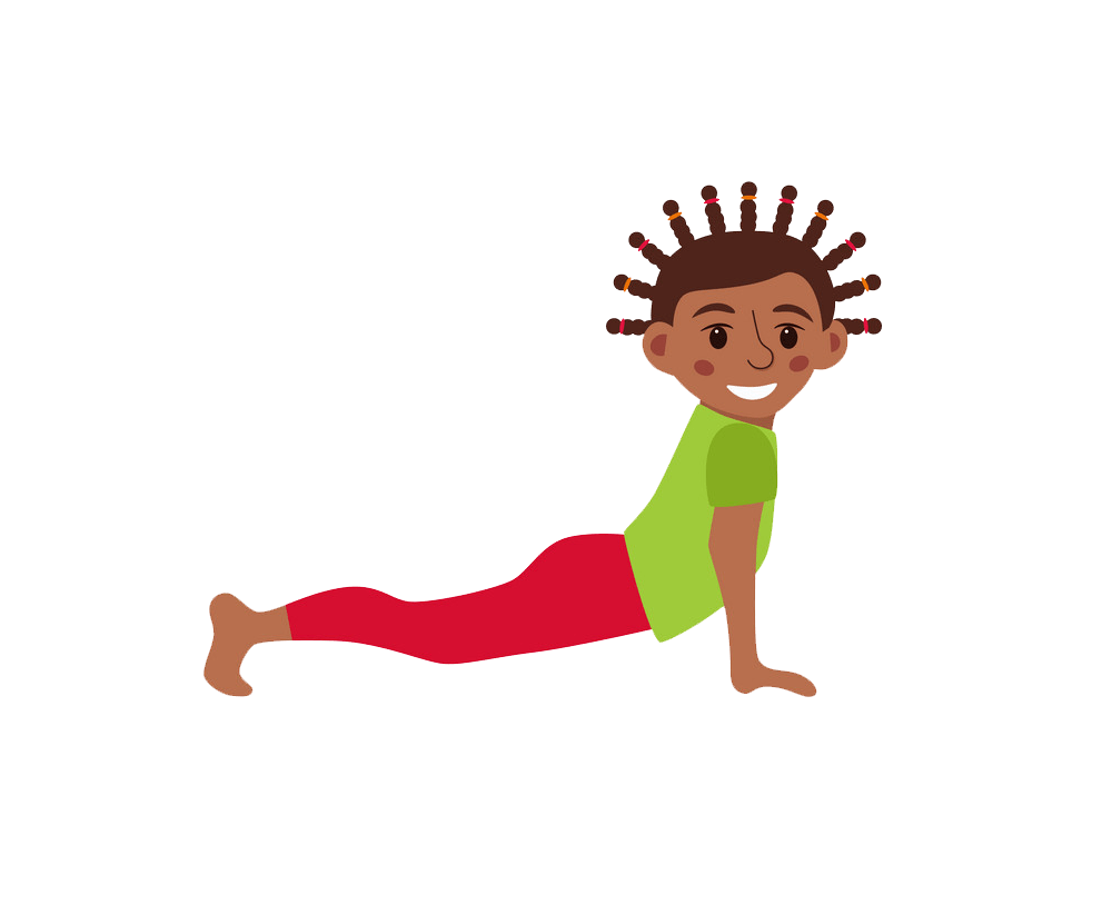 yoga kid poses png transparent