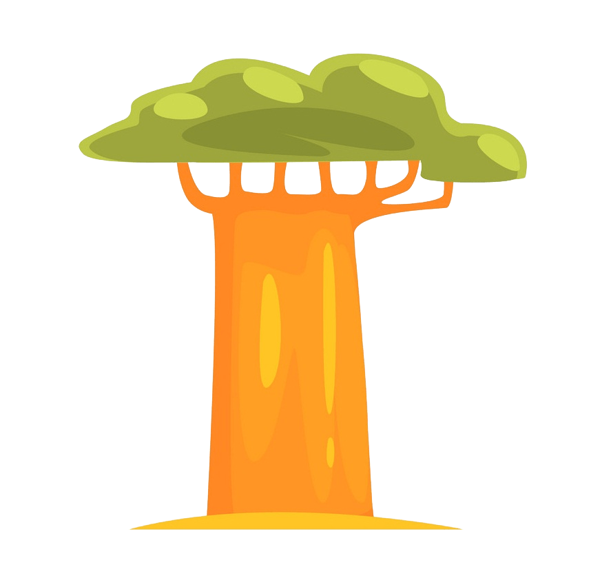 Baobab tree clipart transparent