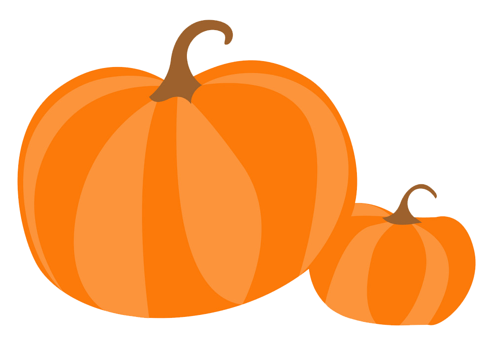 Big and small pumpkin clipart transparent