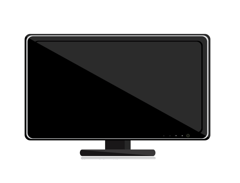 Black TV clipart transparent