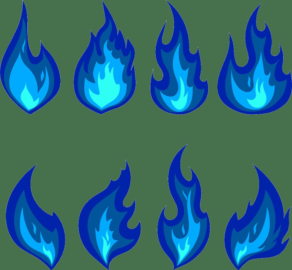 Blue fire clipart transparent