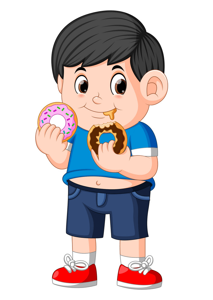 Boy eating donuts png