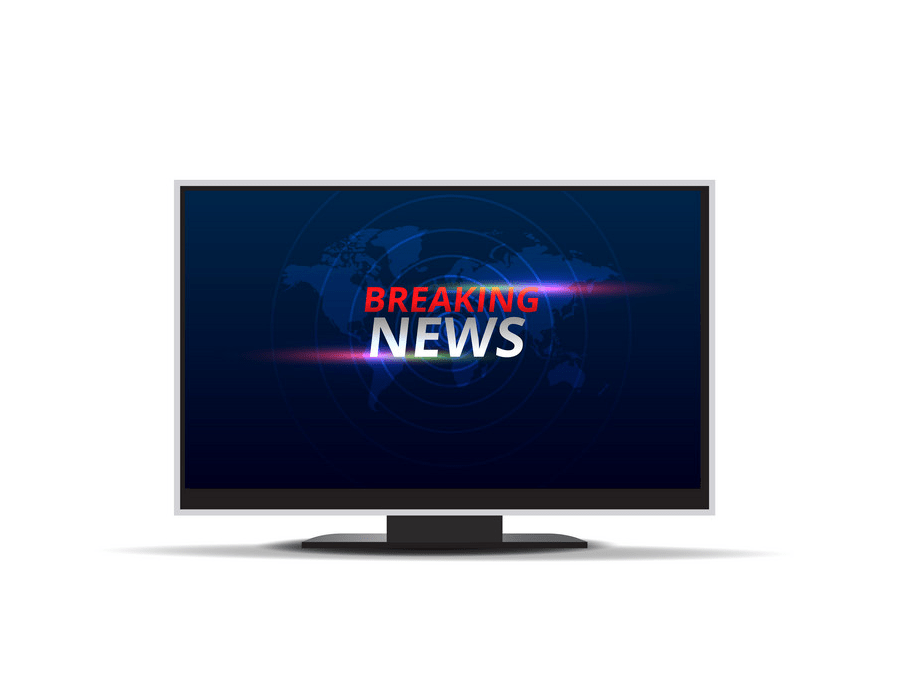 Breaking news on lcd TV png