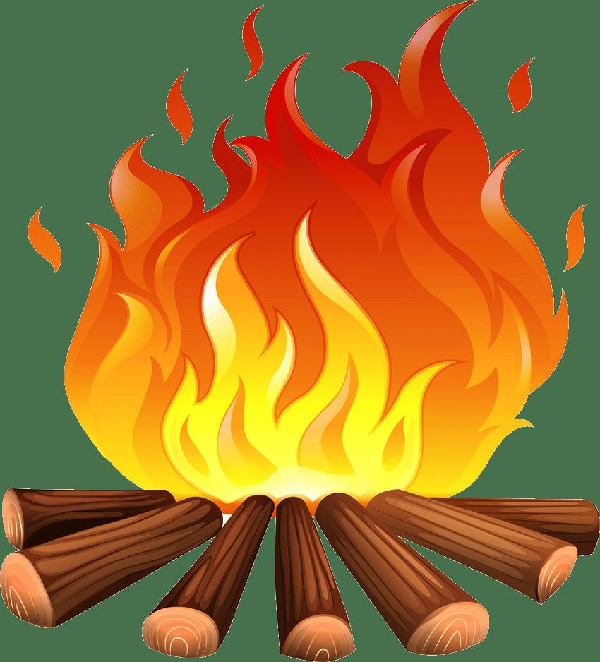 Campfire clipart transparent 1