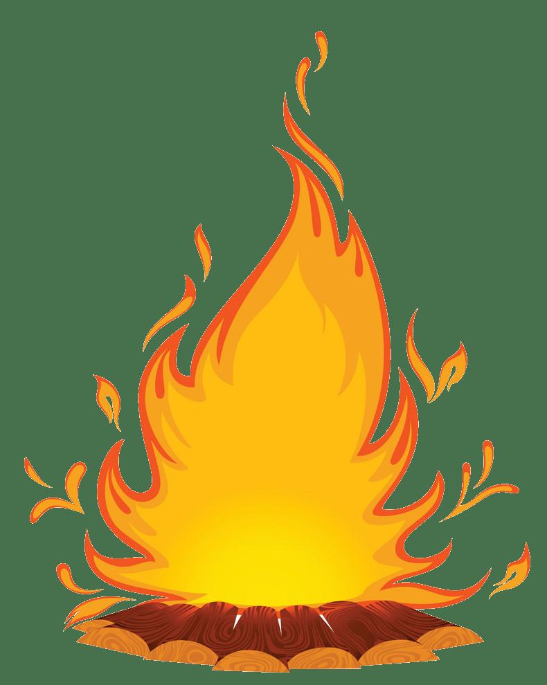 Campfire clipart transparent