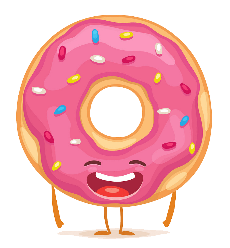 Cartoon donut clipart transparent