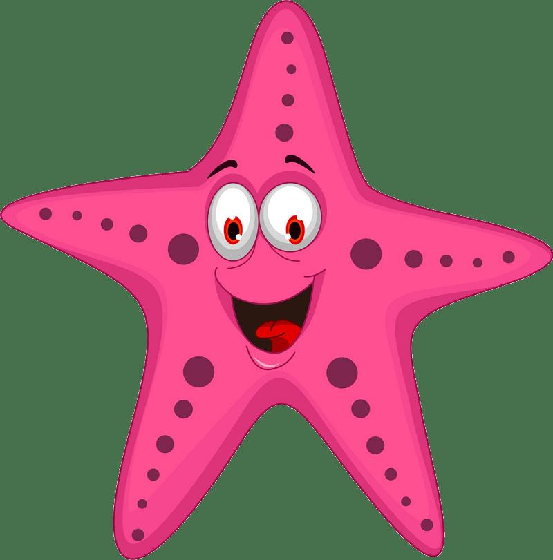 Cartoon starfish clipart transparent 1