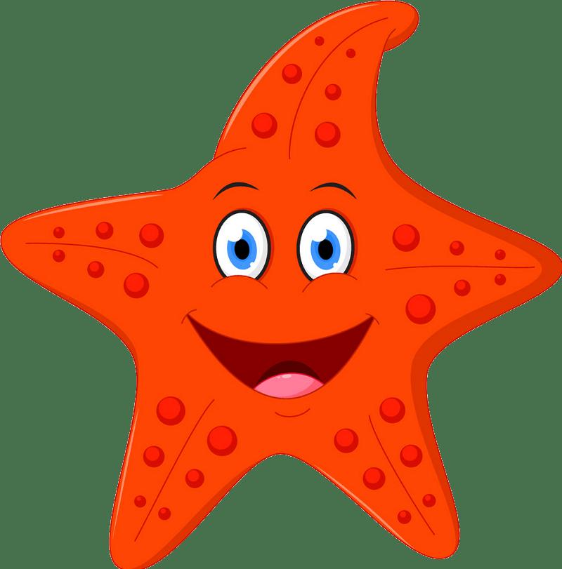 Cartoon starfish clipart transparent 2
