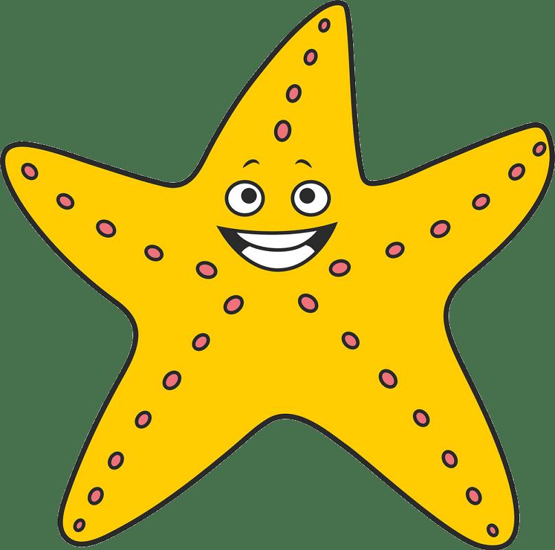 Cartoon starfish clipart transparent 3