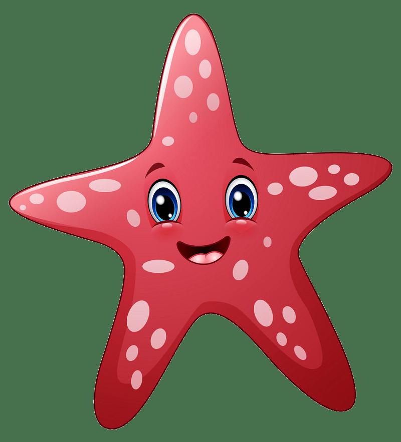 Cartoon starfish clipart transparent