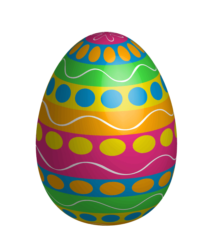 Colorful Easter Egg clipart transparent