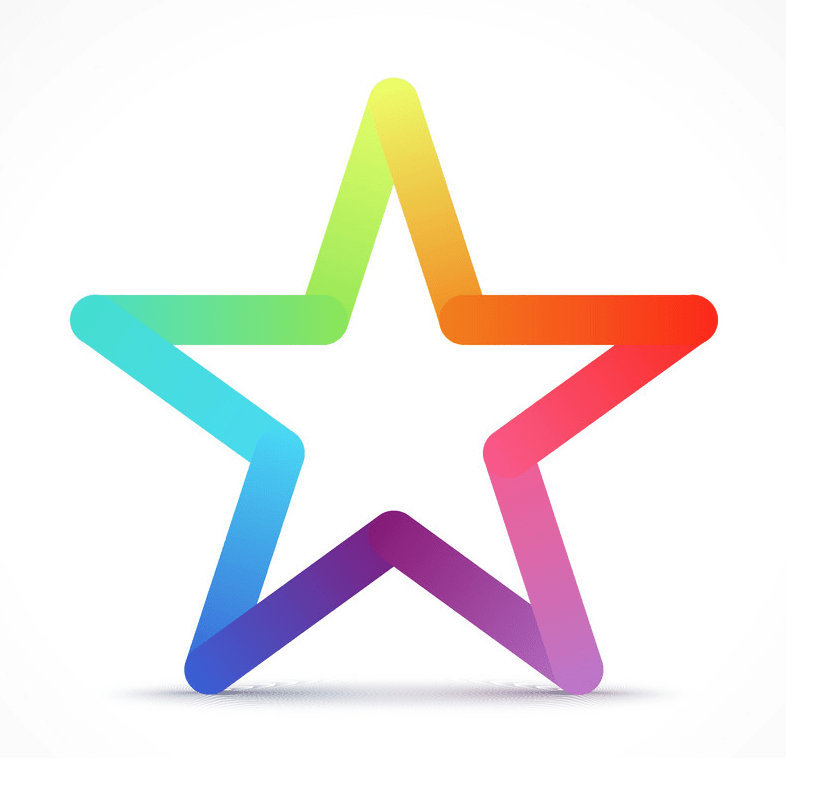 Colorful star png