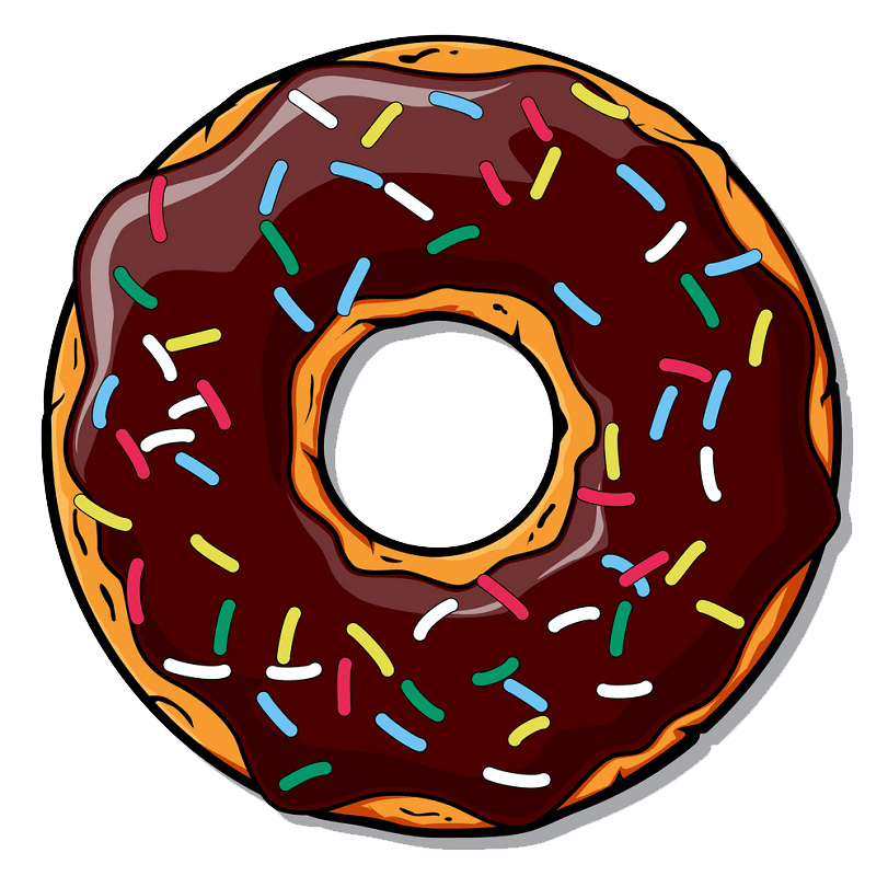 Donut clipart transparent 3