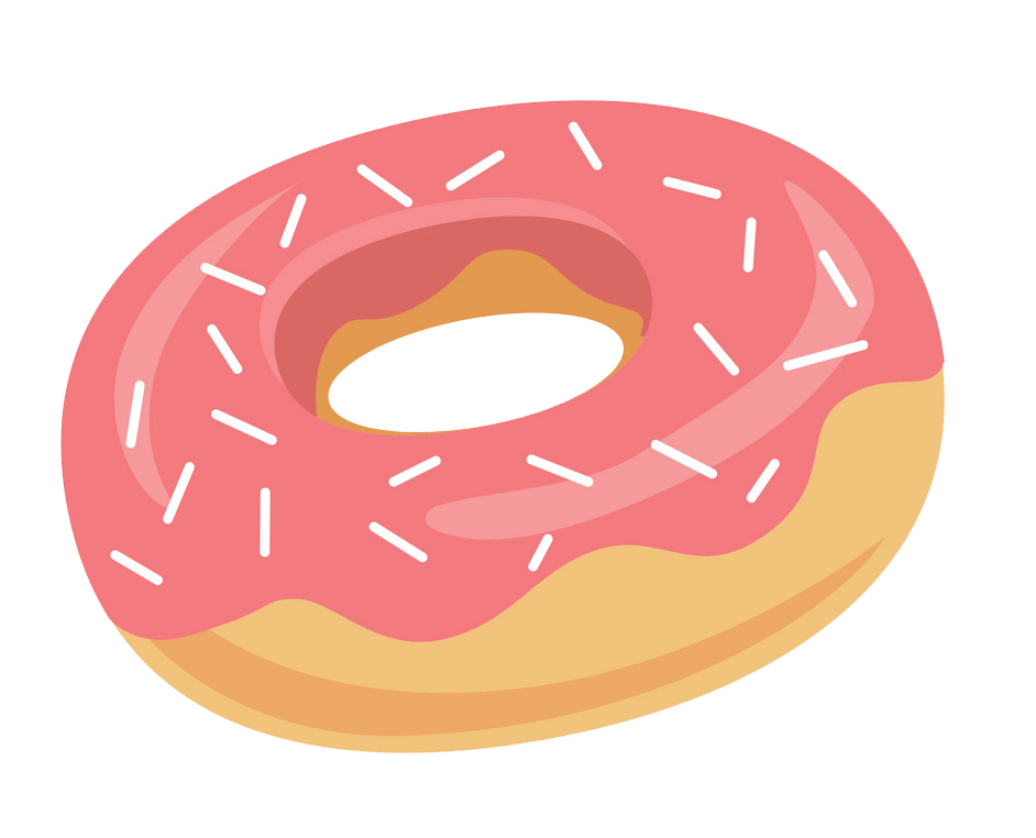 Donut clipart transparent 4