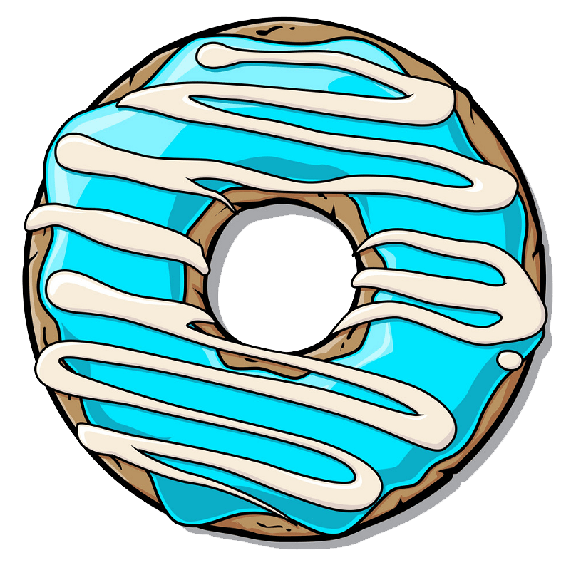 Donut clipart transparent 6