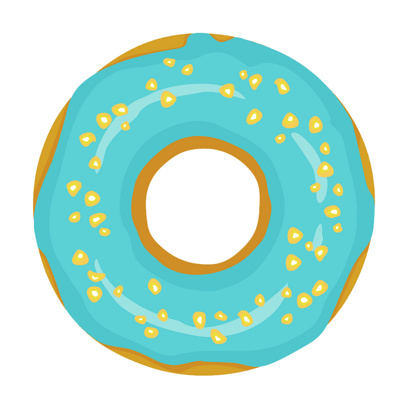 Donut clipart transparent 7