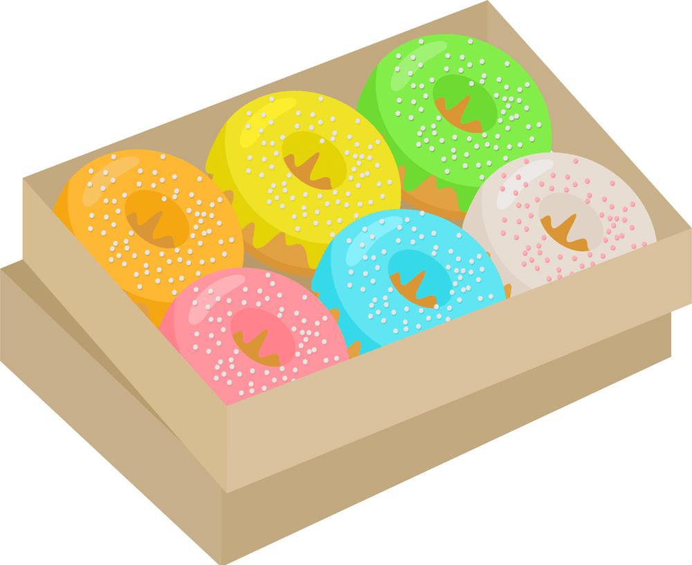 Donuts box clipart