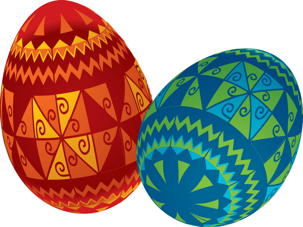 Easter Eggs clipart transparent