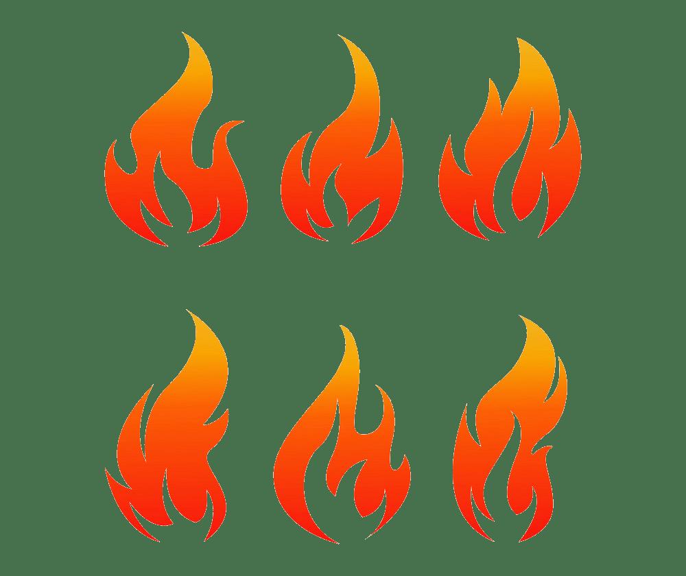 Fire clipart transparent 2