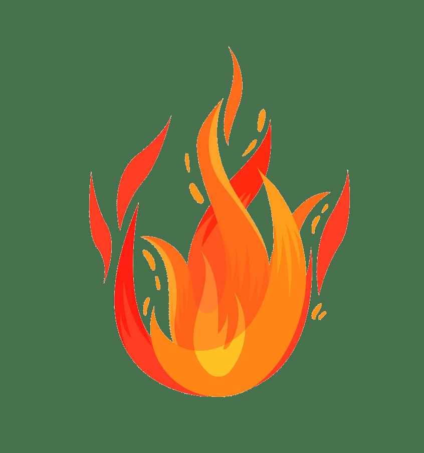 Fire clipart transparent 3